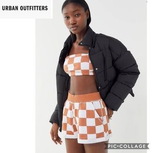 UO Out From Under size medium Brody checkered NWOT
